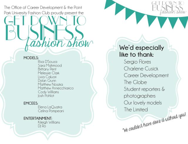 Fashion Show Program